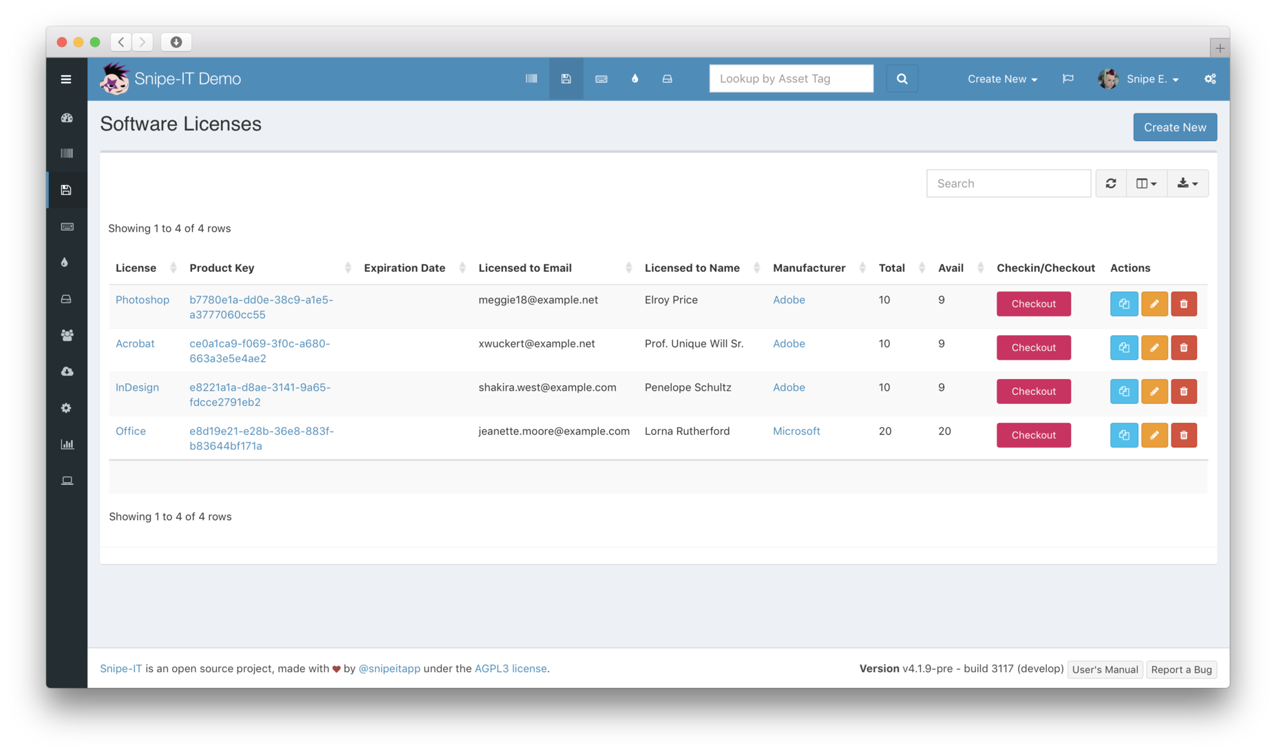 Product Features - Snipe-IT Free open source IT asset management
